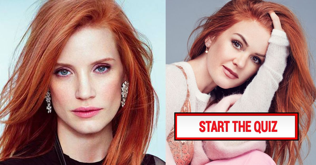 There S No Way You Can Name 100 Of These Famous Redheads